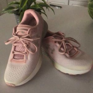 Under Armour pink ombré athletic shoes